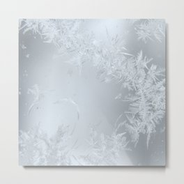 Soft Maine Frost Metal Print
