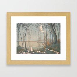 Rabbit in the forest Framed Art Print