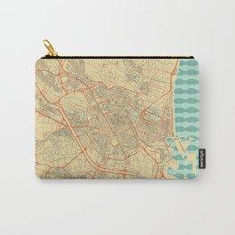 Valencia Map Retro Carry-All Pouch