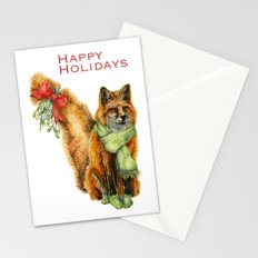Foxy Mistletoe Stationery Cards