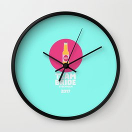 Team bride Stockholm 2017 Henparty T-Shirt D27qy Wall Clock