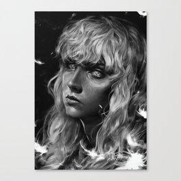 The White Hawk Canvas Print