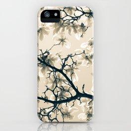 Magnolie beige iPhone Case