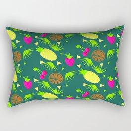 Watercolor Just Fruit Tropical Tutti Fruitti Pattern Rectangular Pillow