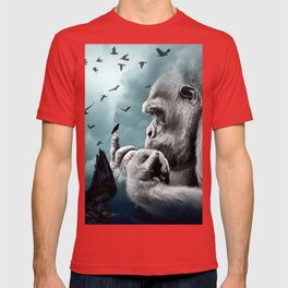 Gorilla discovers crows by GEN Z T-shirt