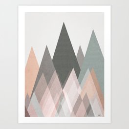 pastel plateau Art Print