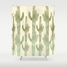 Giant Cactus Shower Curtain