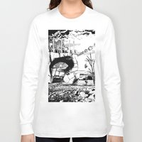 pittsburgh Long Sleeve T-shirts featuring PITTSBURGH, PENNSYLVANIA by Alberto Matsumura