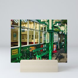 Platform at Sheringham station Mini Art Print