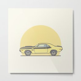 1970 Dodge Challenger vector illustration Metal Print