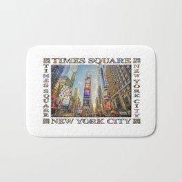 Times Square Hustle (white poster edition) Bath Mat