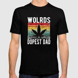 World Dopest Dad Weed 420 Cannabis T-shirt