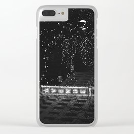holiday in the city Clear iPhone Case