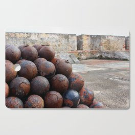 Cannonballs at San Felipe del Morro Cutting Board