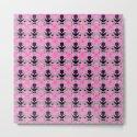Raceway Plaid Skull and XBones: Pink, Grey, Purple by jeffreyjirwin