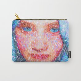 Girl In A Blue Headdress Carry-All Pouch