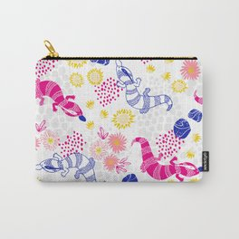 Paint me Pink - Blue Tounge Lizards Carry-All Pouch
