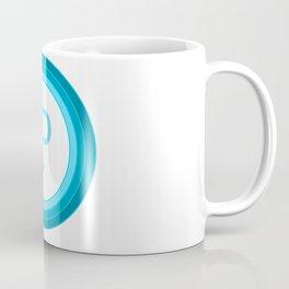 Blue letter P Coffee Mug