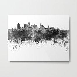 Brooklyn skyline in black watercolor Metal Print