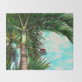 Manila Palm Tree - Hawaii Throw Blanket