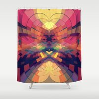 kaleidoscope Shower Curtains featuring Kaleidoscope by Jasmine Vargas
