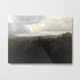 Stormy Day In The Mountains  Metal Print