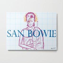 St. Bowie Metal Print
