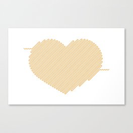 Heart Circuit Canvas Print