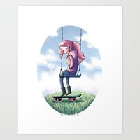 princess bubblegum Art Prints featuring bubblegum princess by Martina Naldi