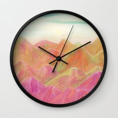 Lines in the mountains XVIII Wall Clock