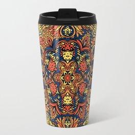 Orange Indian Mandala Travel Mug