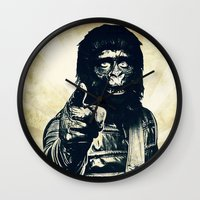 ape Wall Clocks featuring Vintage Ape * Go Ape by Freak Shop | Freak Products