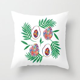 papaya Throw Pillow