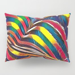 2602s-AK Nude Body Back Striped Abstraction Bright Color Pastel by Chris Maher Pillow Sham