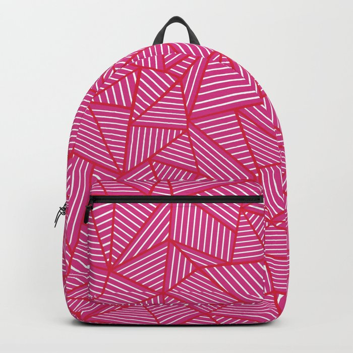 Ab Linear Hot Pink Backpack