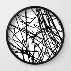 Daisy Scribble Wall Clock