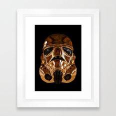STAR | WARS - Golden Stormtrooper Helmet Framed Art Print