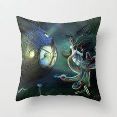 20,000 Leagues Under The Sea Throw Pillow
