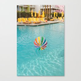 Palm Springs Pool Day Canvas Print