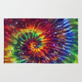 Celestial Rainbow Swirl Rug