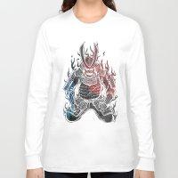 samurai Long Sleeve T-shirts featuring Samurai  by Mikio Murakami