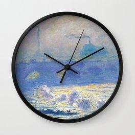 Waterloo Bridge, Sunlight Effect by Claude Monet Wall Clock