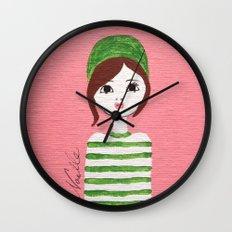 Green Hat Wall Clock