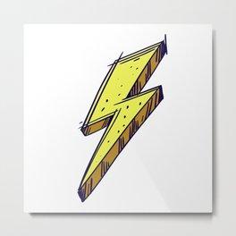Lightning Bolt Color Illustration Metal Print