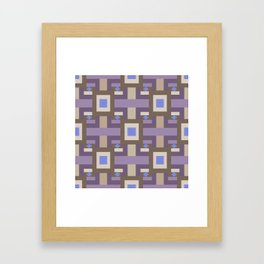 WINTER GEOMETRY PATTERN Framed Art Print