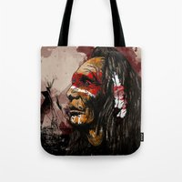 native Tote Bags featuring Native by DGundlachDesigns