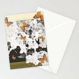 Hydrangea And Butterflies in Frame #decor #society6 Stationery Cards