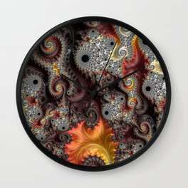 Elegance - Fractal Art Wall Clock