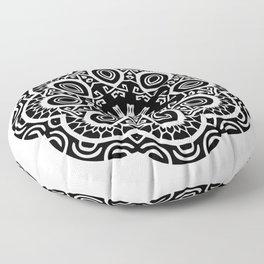 Polynesian style mandala tattoo 2 Floor Pillow
