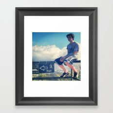 I'd Rather Sit On This Railing Framed Art Print